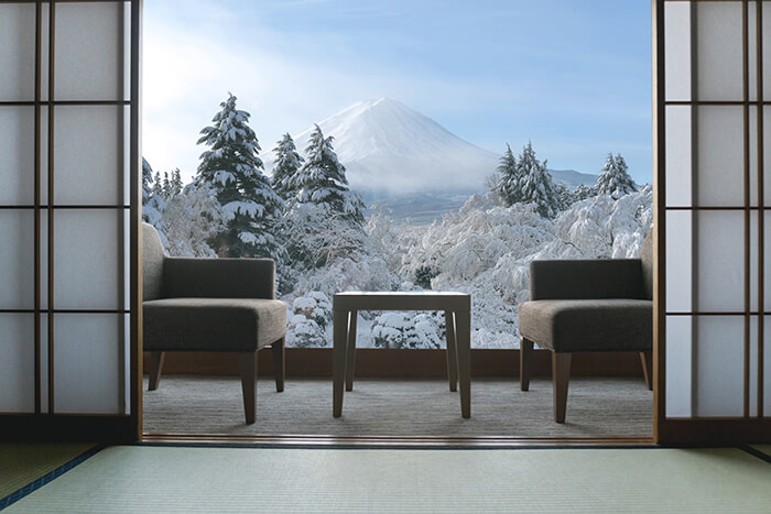旅館の部屋からの風景